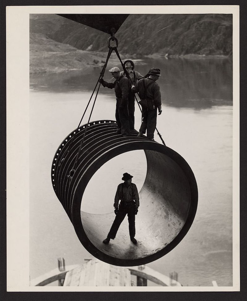 historic dam shot